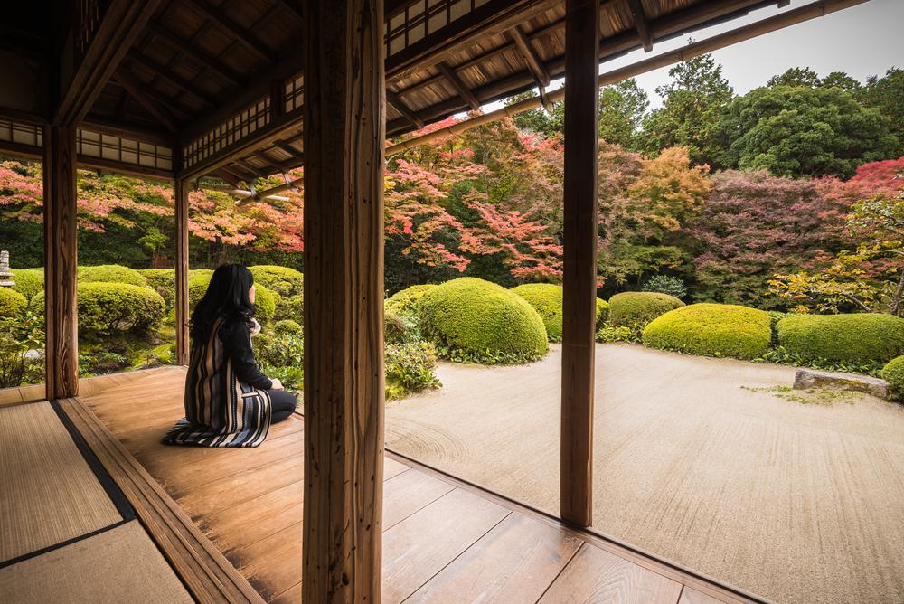 Shisen-do Temple garden. Editorial credit: Kanisorn Pringthongfoo / Shutterstock.com