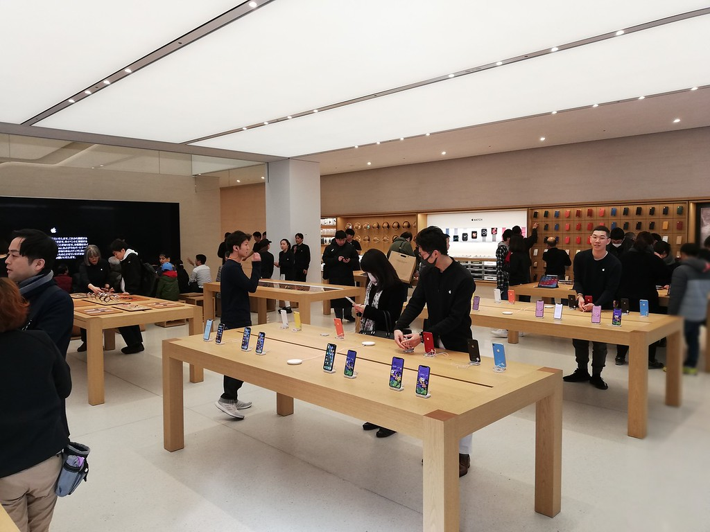 Apple store interior