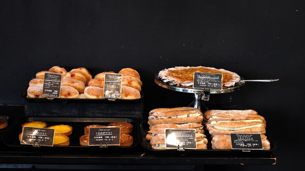 A selection of baked goods at Le Petit Mec Oike.