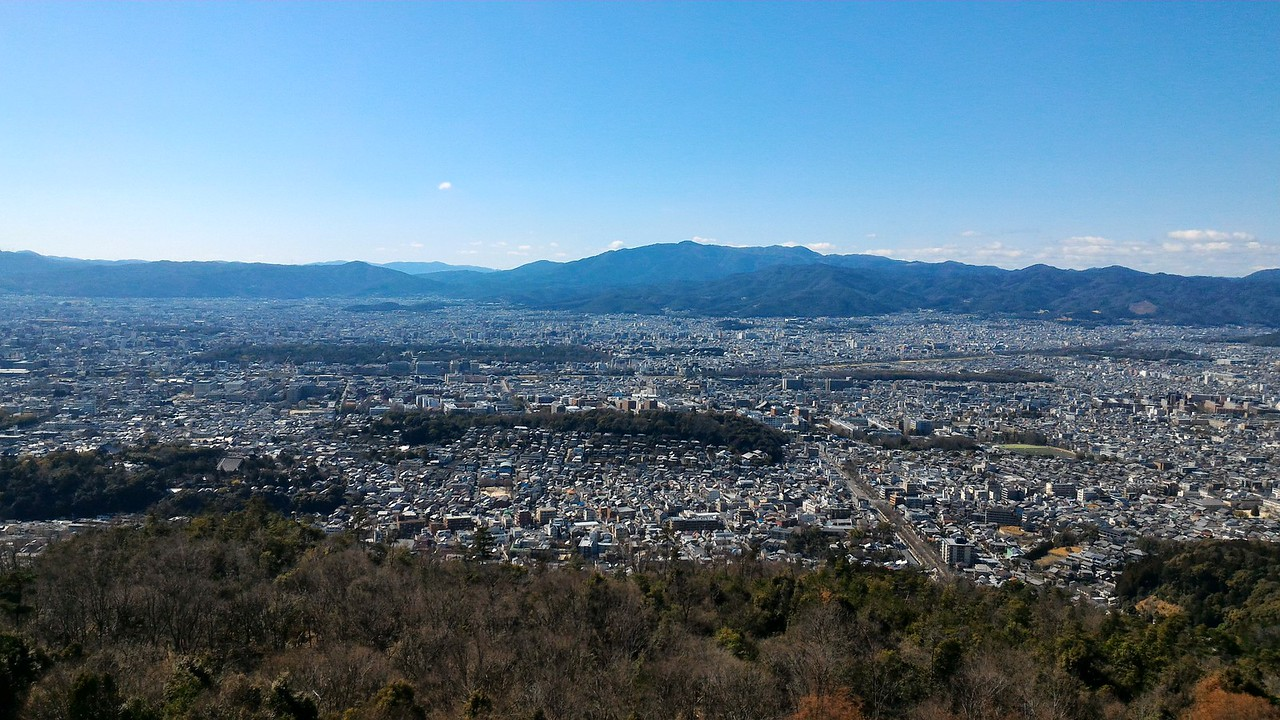 The view over Kyoto from the Daimonji viewpoint