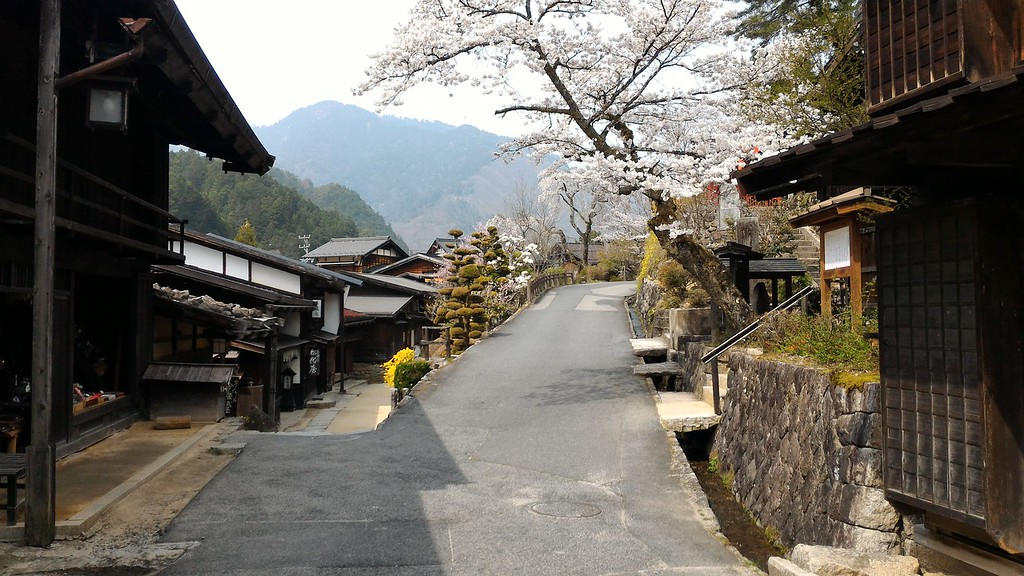 Two Roads in Tsumago
