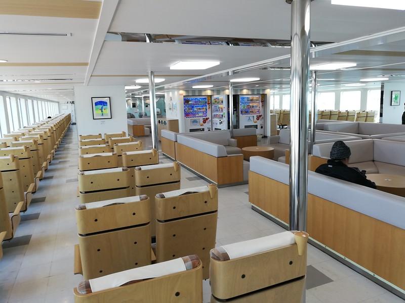 Takamatsu Naoshima ferry interior