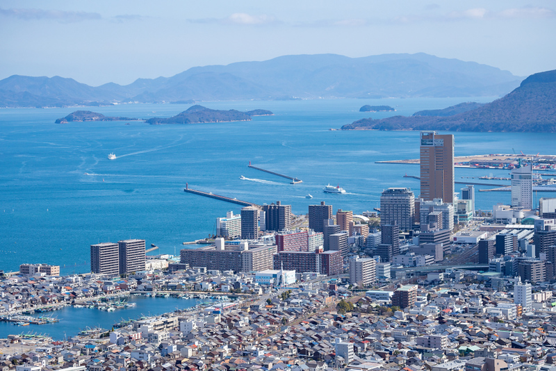 Takamatsu City on the Inland Sea. Editorial credit: Takamatsu City on the Inland Sea / Shutterstock.com
