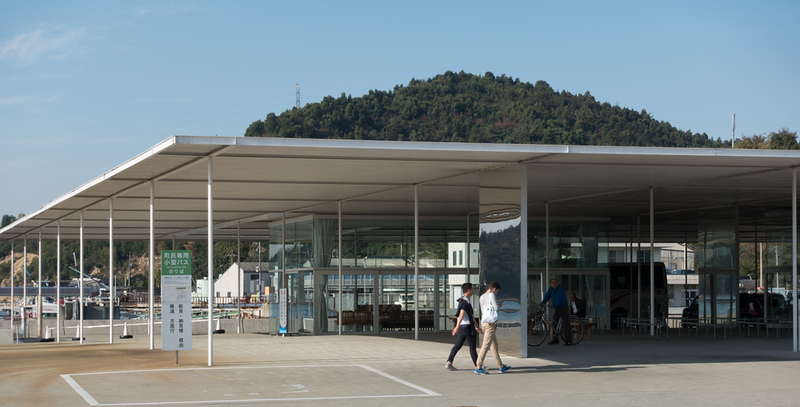 Naoshima tourist information office and ferry ticket office. Editorial credit: Fme21 / Shutterstock.com