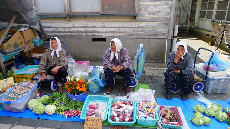 Ladies at Wajima Morning Market