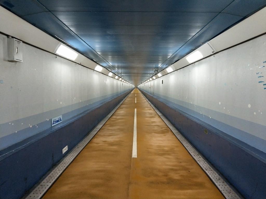 The underground passage connecting Honshu and Kyushu.