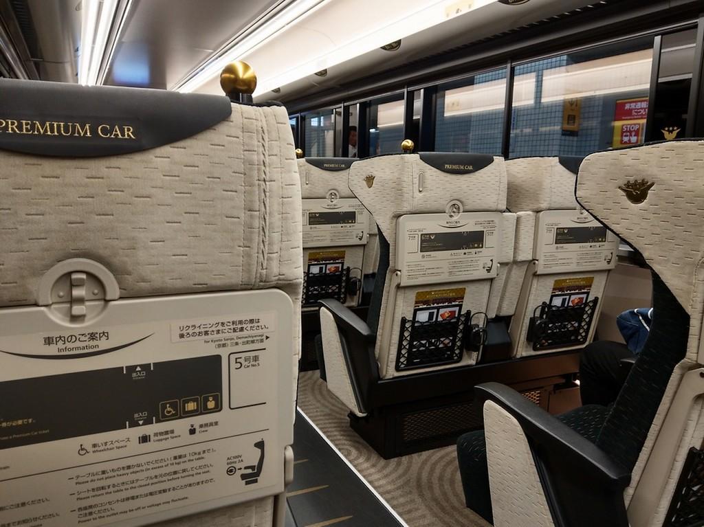 Seats in the Premium Car.