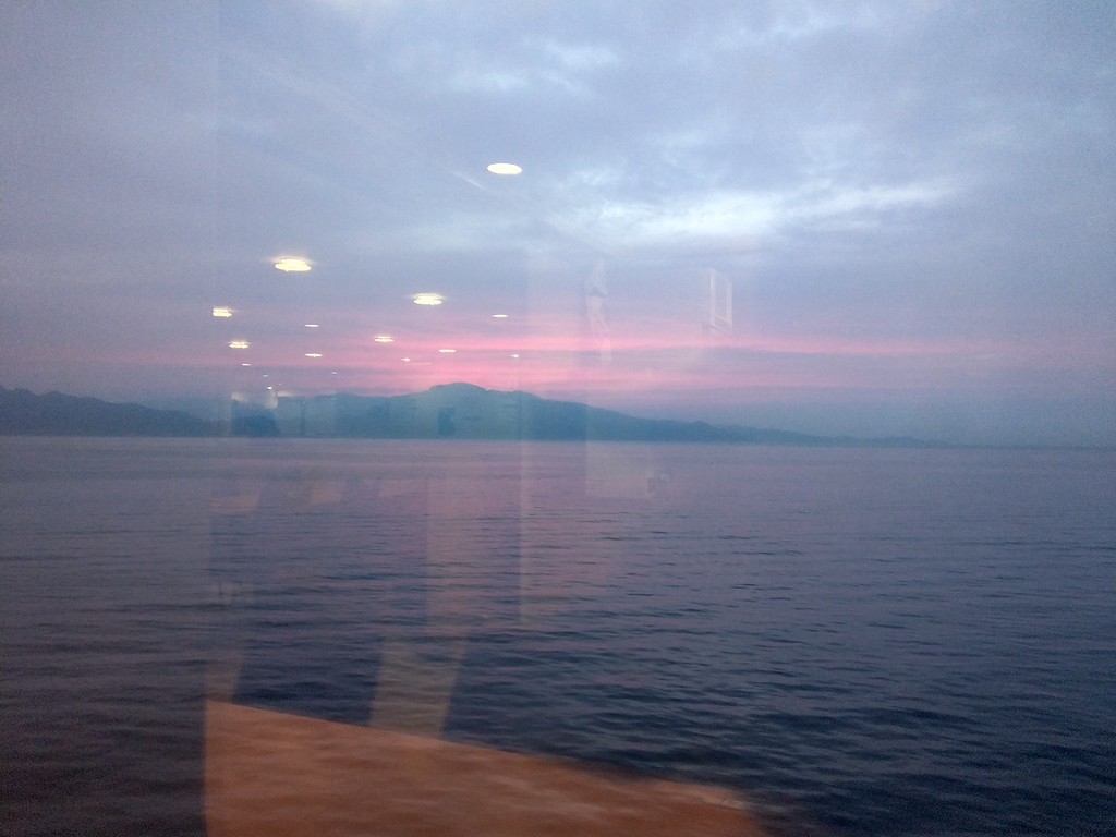 An evening view across the Seto Inland Sea.