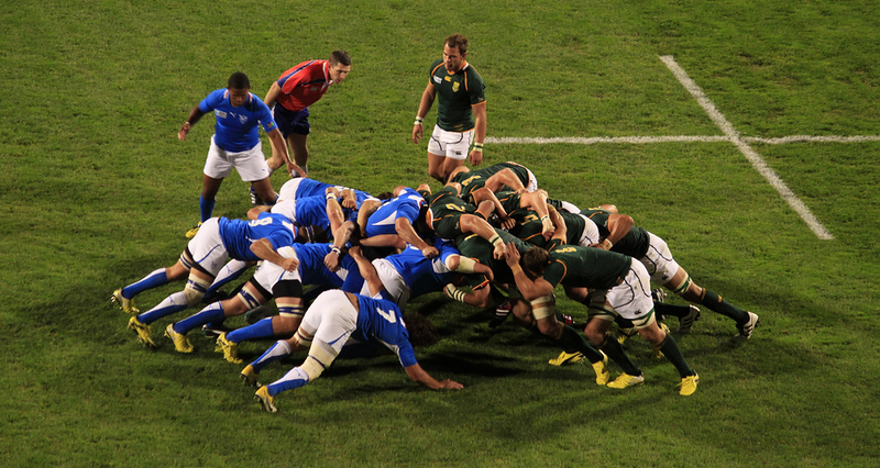 Rugby World Cup action. Editorial credit: patrimonio designs ltd / Shutterstock.com