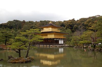 Kinkakuji --- The Golden Pavilion at Rokuonji Temple