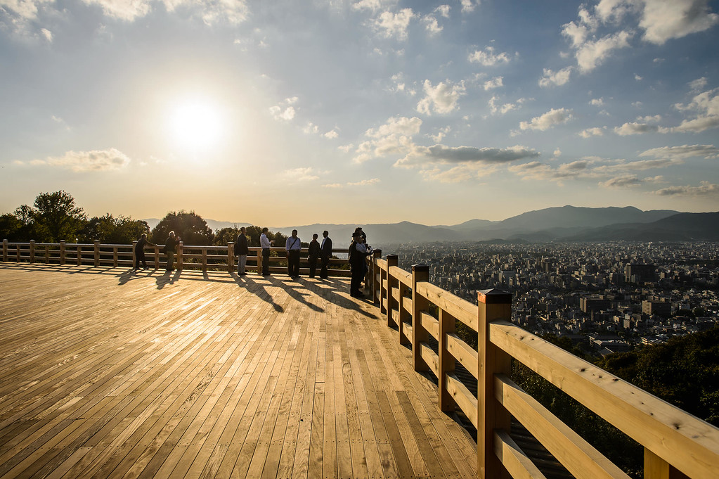 The view over Kyoto from the Seiryuden viewpoint