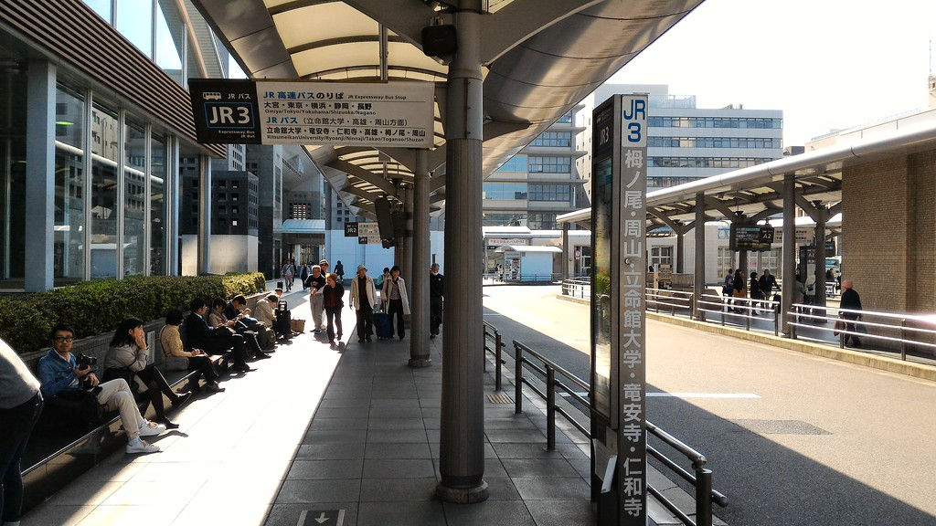 Bus Boarding Point at Kyoto Station
