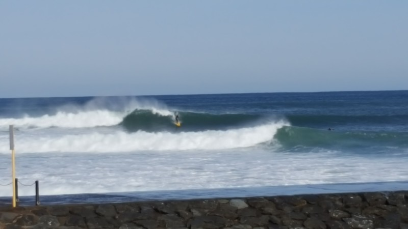 Surfing at Hacho-hama Beach