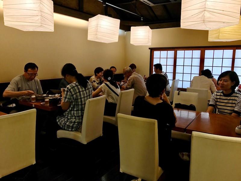 The restaurant upstairs seats around 20~24 people.