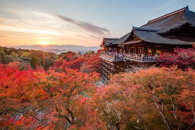 Kiyomizu-dera Sunset • Kyoto, Japan