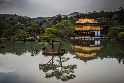 Reflection of Kinkakuji - Golden Pavillion.