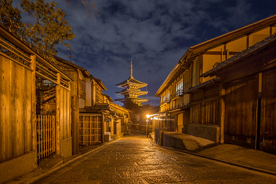 Higashiyama District at Night • Kyoto, Japan