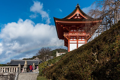 Rainbow at Kiyomizu-dera Temple.