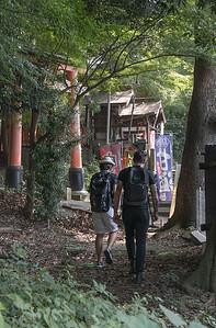 Back way to the Fushimi Inari Shrine
