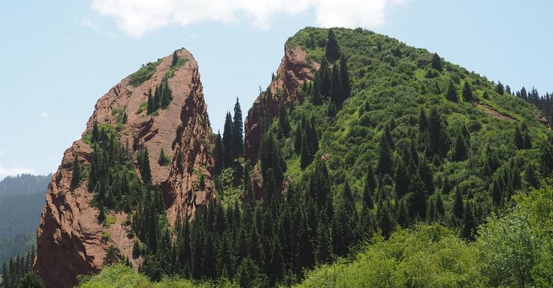 Views of Jeti Oguz Jeti-Ögüz in Kyrgyzstan