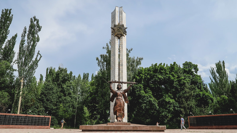 Victory Park and World War II Memorial in Karakol, Kyrgyzstan