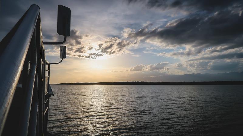 A sunset cruise on Issyk Kul Lake in Karakol