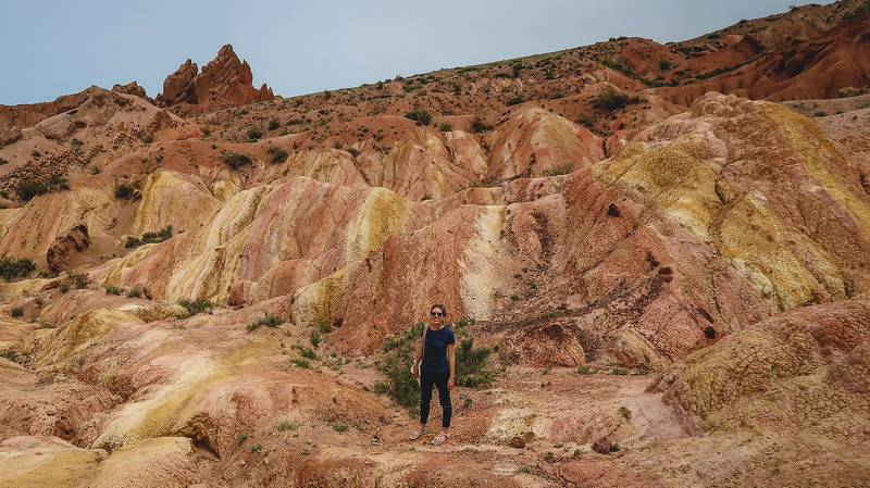 Skazka also known as the Fairy Tale Canyon in Issyk Kul Lake's South Shore, Kyrgyzstan