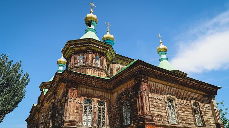 Holy Trinity Russian Orthodox Church in Karakol, Kyrgyzstan