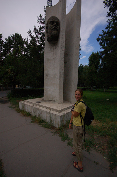 Emilie with Lenin.