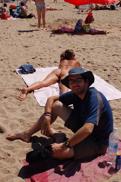 Yann enjoying a nice day at the beach.