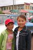 Pink cheeked Kyrgyz girls.
