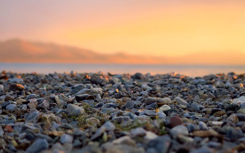 Sunset on Song Kol Lake.