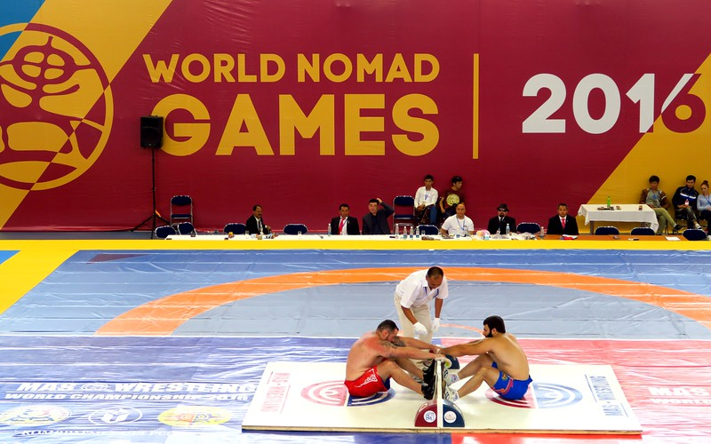 Wrestling is one of the main sports at the World Nomad Games.