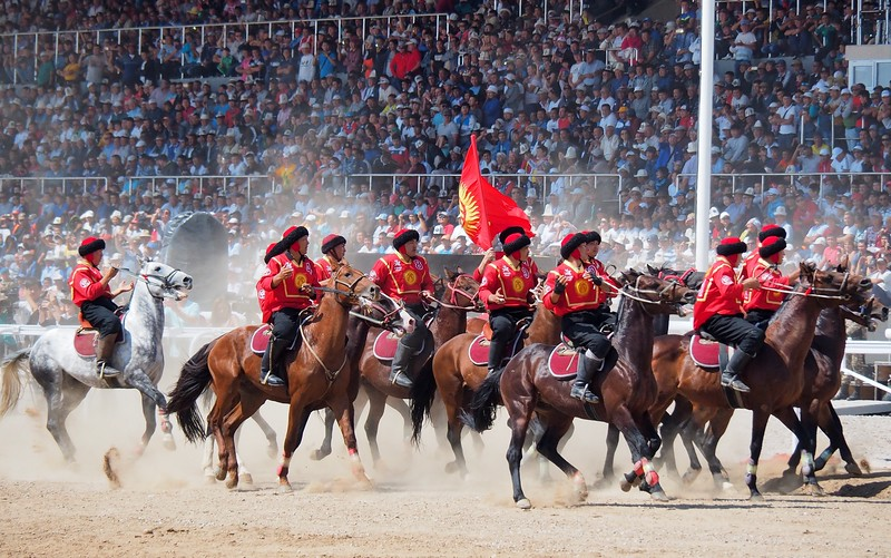 The Kyrgyz kok boru team won the finals at the World Nomad Games 2016.