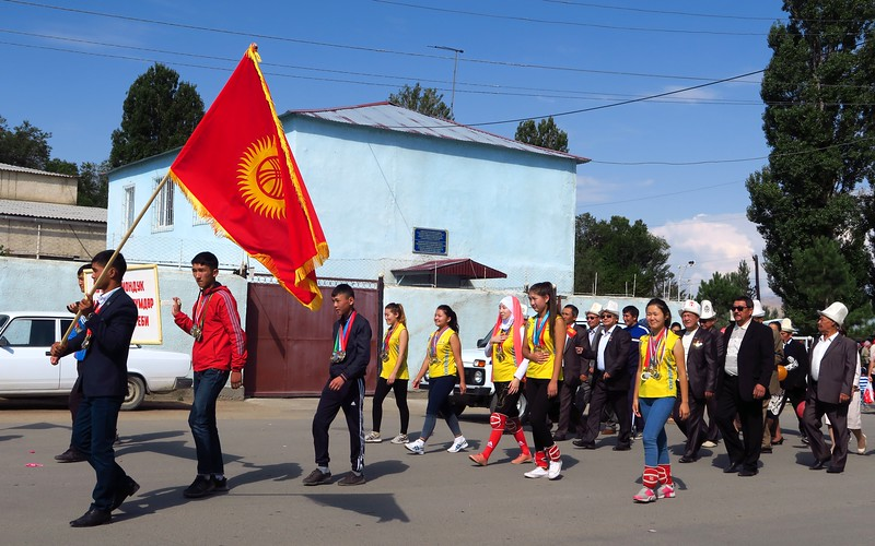 Independence Day Parade in Kochkor, Kyrgyzstan.