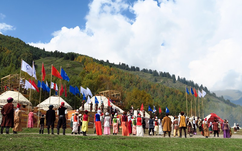 The opening ceremony in Kyrchyn for the World Nomad Games 2016