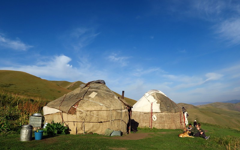 Our yurt camp.