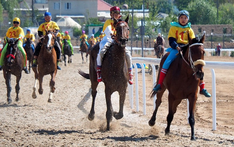 Horse races are another popular event at the World Nomad Games.