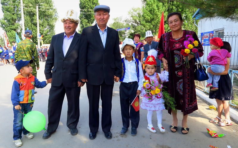 Independence Day celebrations in Kochkor, Kyrgyzstan.