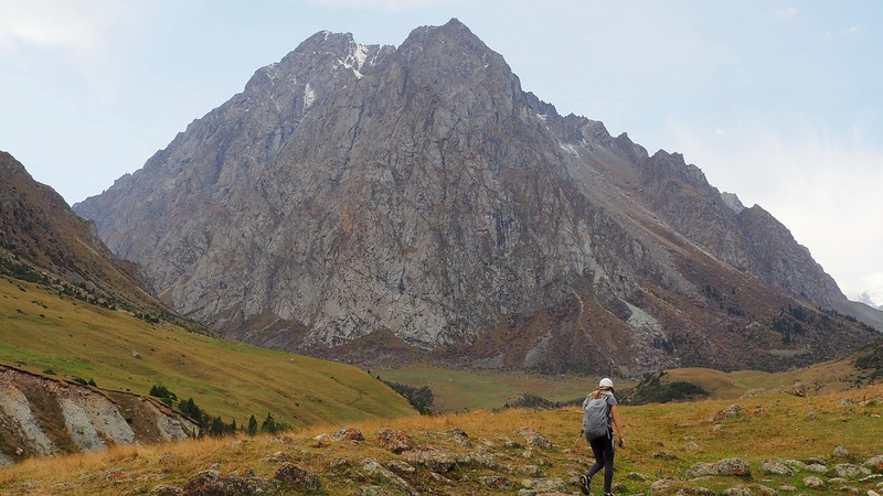 Mountain views as we hiked Issyk-Ata Gorge as a day trip from Bishkek, Kyrgyzstan