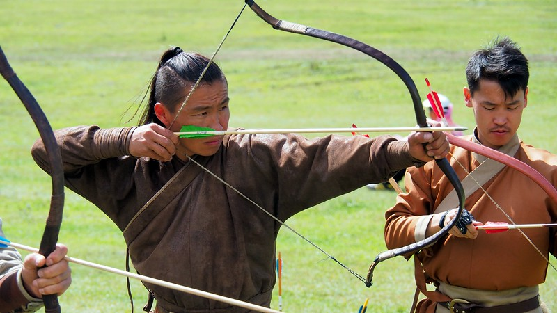 Archery games at the World Nomad Games.