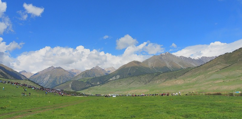 Stunning scenery with mountains in the background at the Kyrgyzstan World Nomad Games