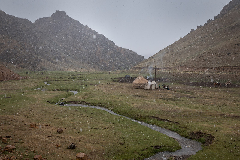 Small yurt in the mountains