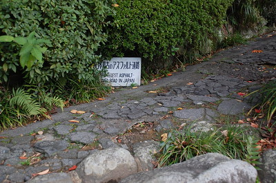 The oldest asphalted road in Japan, Glover Garden