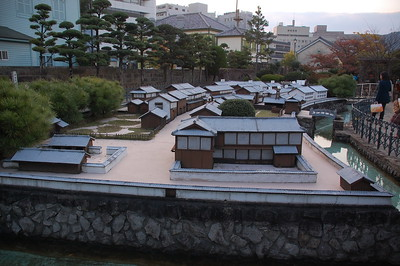 Model of the man-made island of Dejima