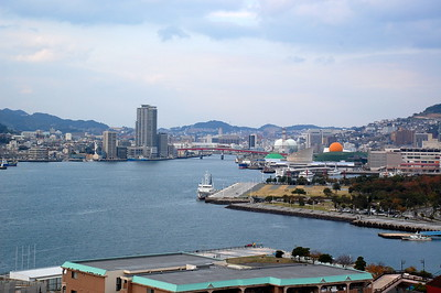 View of Nagasaki Harbour from Glover Garden