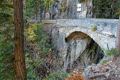 Brücke über die Triège-Schlucht