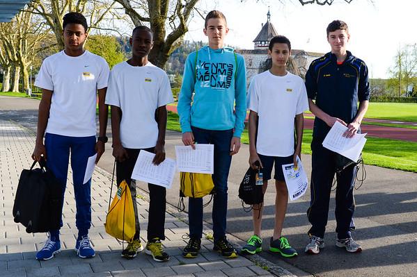 Siegerehrung Schaffhauser Jugendlaufcup 2013