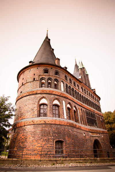 Holsten Gate (city side) , Holstentor, city gate, Brick Gothic, medieval