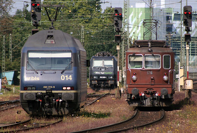 BLS, 465 014 & 176 at Basel Bad on 15th September 2007